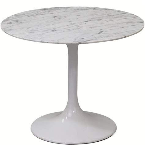 Modway Furniture Lippa 20 Inch Marble Side Table In White .