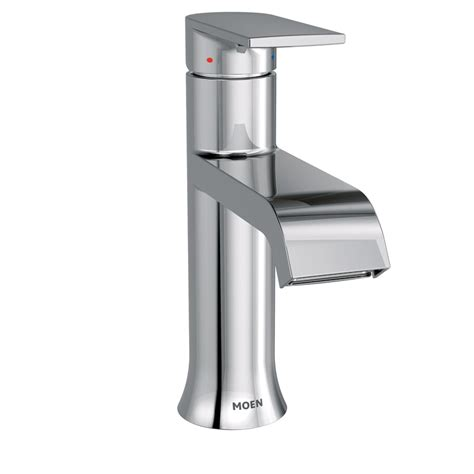 Moen Genta Chrome 1-Handle Single Hole Watersense Bathroom .