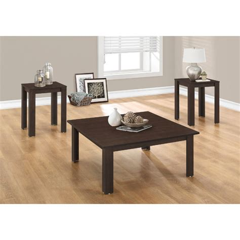 Monarch 3 Piece Mirrored Coffee Table Set In  - Walmart Com.