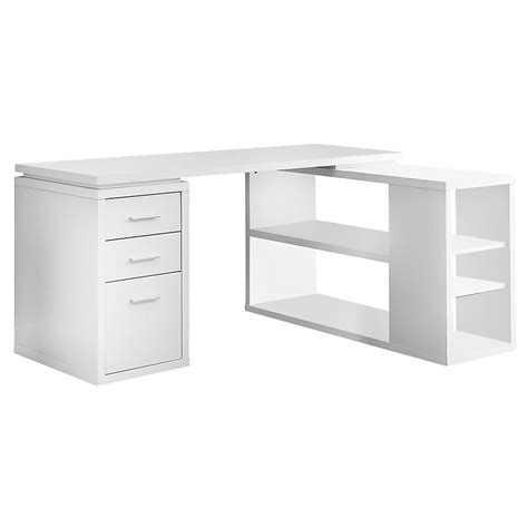 Monarch Specialties 60-Inch L Adjustable L-Shaped Desk .