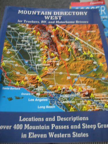Mountain Directory West For Truckers, Book By Richard W. Miller.