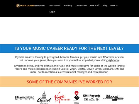 @ Music Career   Blueprint.