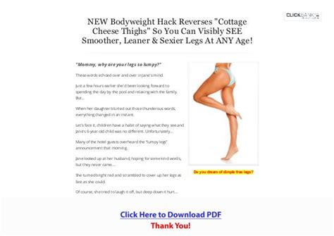 My Cellulite Solution - Pdf Ebook Download - Wakelet.