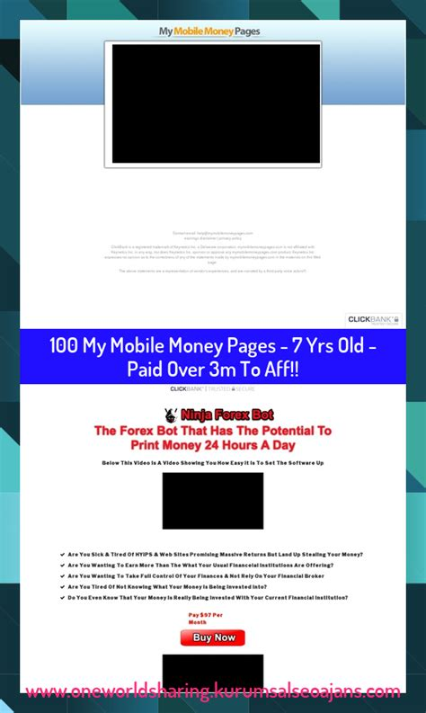 My Mobile Money Pages – 7 Yrs Old – Paid Over 3m To Aff.