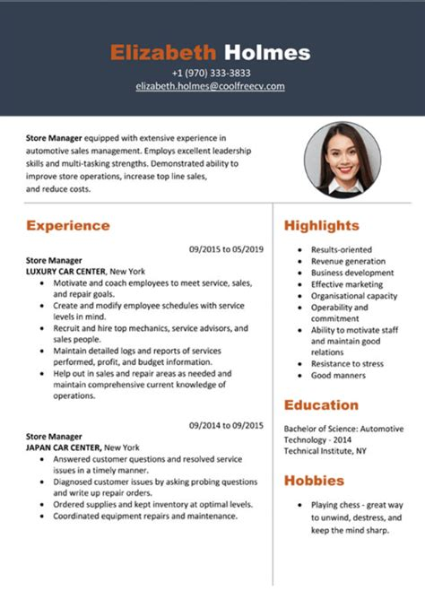 my resume builder cv - Google Resume Builder Free