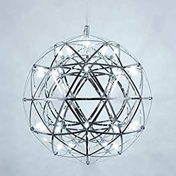 Mzithern Modern Geometric Chandelier In Chrome 20 .