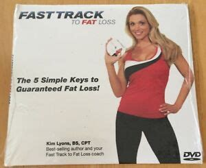 New Fitera 5 Simple Keys To Fat Loss Fast Track To Fat Loss Dvd.