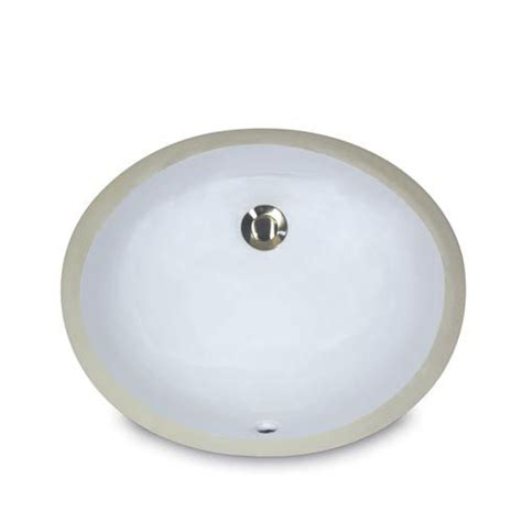 Nantucket Sinks Mini Oval Undermount Vanity Bowl - White.