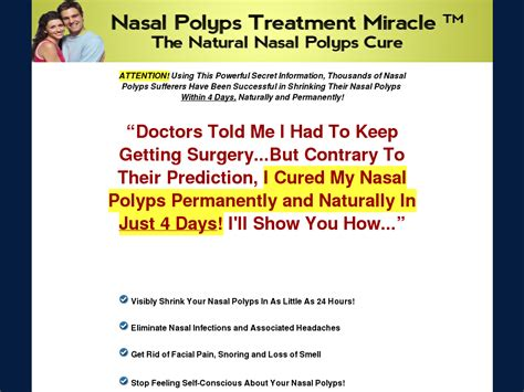 Nasal Polyps Treatment Miracle (tm) - Up To $68 Per Sale! Have.
