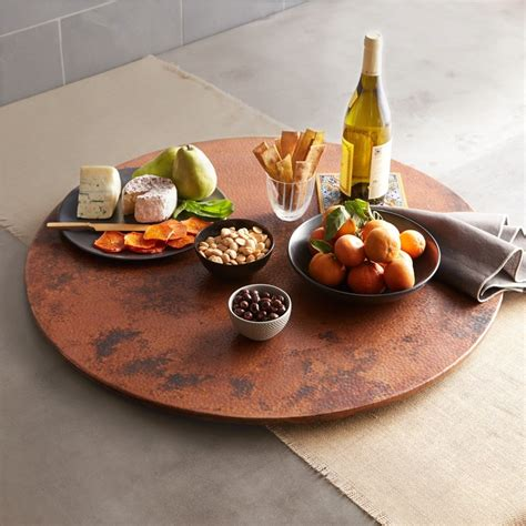 Native Trails 12-Inch Copper Lazy Susan Tempered Finish .