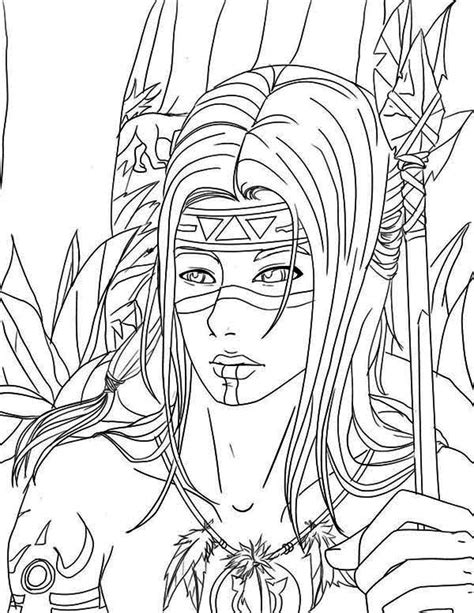 Galerry coloring pages for adults native american
