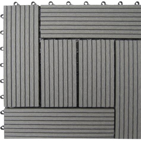 Naturesort N4-Otm6g 6-Slat Bamboo Composite Deck Tiles .