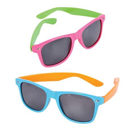 Neon Plastic Sunglasses