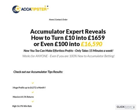@ New Accatipster - This Years Hottest Accumulator Offer .