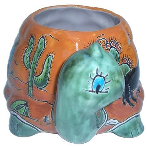 New Deals On Desert Turtle Talavera Ceramic Planter.