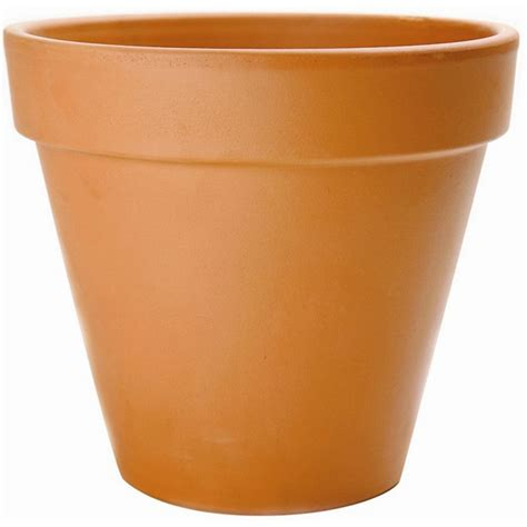 New England Pottery 12-Inch Flower Pot In Terra Cotta .
