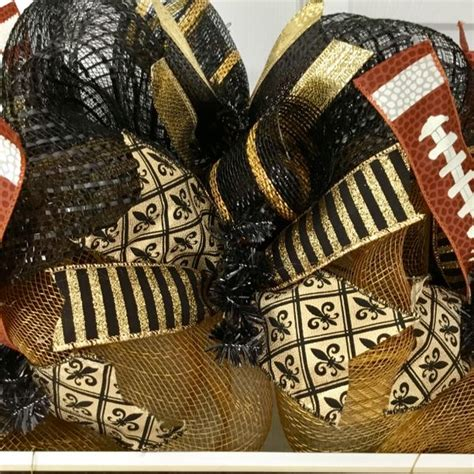 New Orleans Saints Football Sports Wreath Handmade Deco .