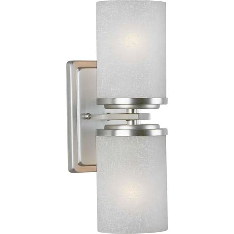 New Savings On 2-Light Wall Sconce Brushed Nickel With .
