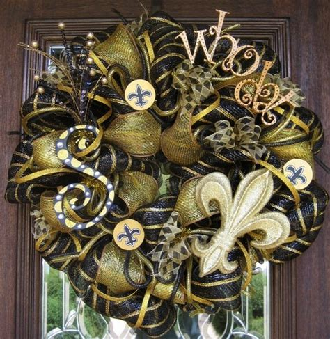 New Orleans Saints Wreaths  Etsy