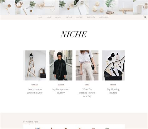 Niche Pro Theme By Bloom - Studiopress.