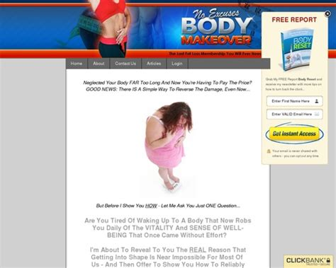 [click]no Excuses Body Makeover Fat Loss Membership - Online .