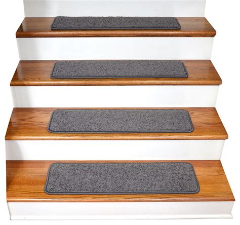 Non-Slip Tape Free Carpet Stair Treads Set Of 15 .