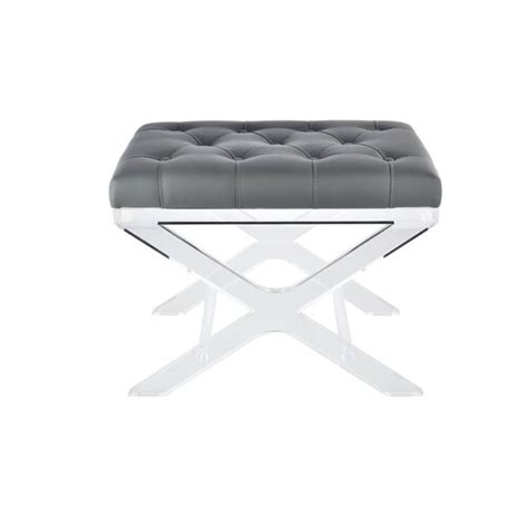 @ North Burnet Gateway Tufted Synthetic Leather Accent Stool .