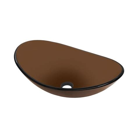 Novatto Babbuccia Glass Oval Vessel Bathroom Sink With .