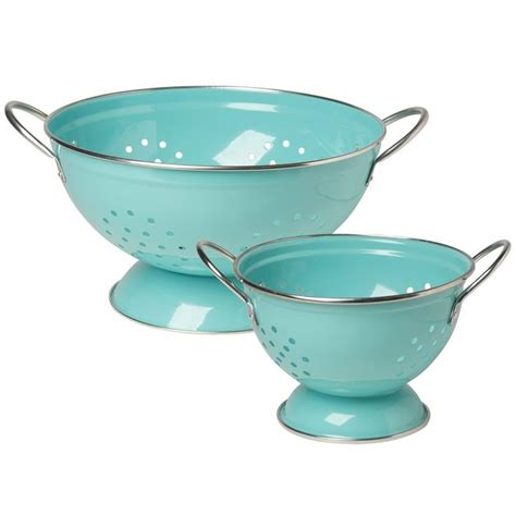 Now Designs Colander Set Of 2 Turquoise From Houzz .