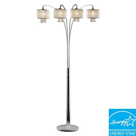 Ore International 88 In Ivory Simple Elegance Arch Lamp-K .