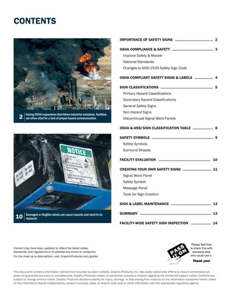 [click]osha Safety Signs Guide Graphic Products.