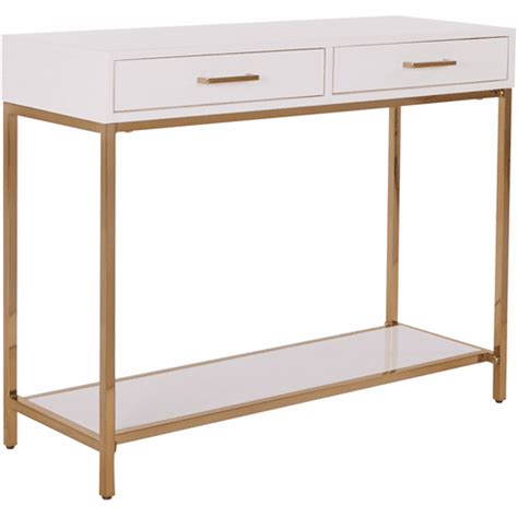Osp Designs Als07-Wh Alios Foyer Table White Frame Gold .