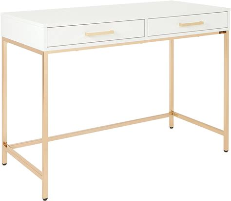 Osp Designs Als42-Wh Alios Desk With Gloss Finish White .