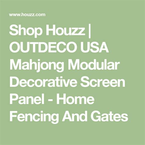 Outdeco Usa Mahjong Modular Decorative Screen Panel Set .