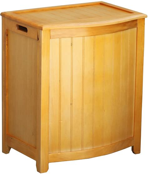 Oceanstar Bhp0106n Bowed Front Laundry Wood Hamper .