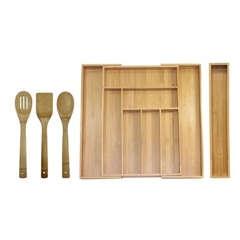 Oceanstar Bamboo Expandable Drawer Organizer Set 5-Piece.