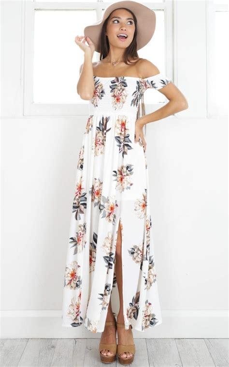 Off the Shoulder Long Summer Dresses