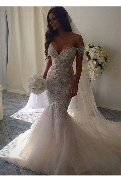 Off the Shoulder Mermaid Wedding Dresses