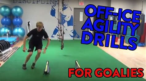 Off-Ice Goalie Agility Drills - Lateral Speed - Youtube.