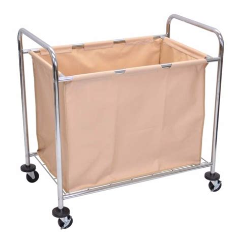 Offex Offex Laundry Cart - Steel Frame And Canvas Bag.