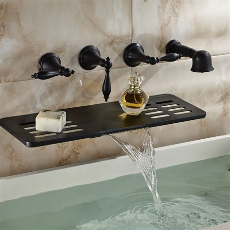 Oil Rubbed Bronze - Tub Wall Mount - Bronze - Bathtub .