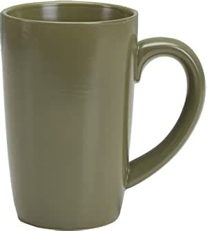 Omniware 1010856 Tall Easy Grip Mugs Set Of 4 18 Oz Olive.