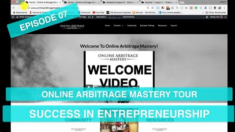 [click]online Arbitrage Mastery Full Course Tour  Success In Entrepreneurship  Ep 07.