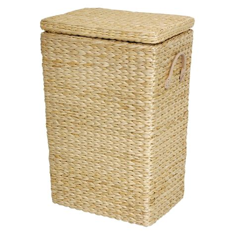 Oriental Furniture Rush Grass Laundry Basket - Black.