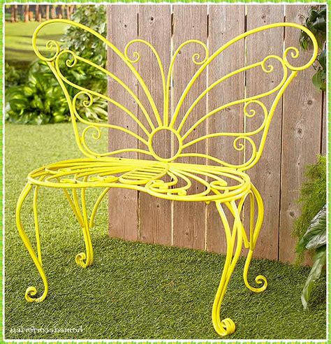 Outdoor Garden Benches Metal Butterfly Back
