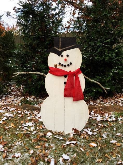 Outside Wooden Snowman Patterns