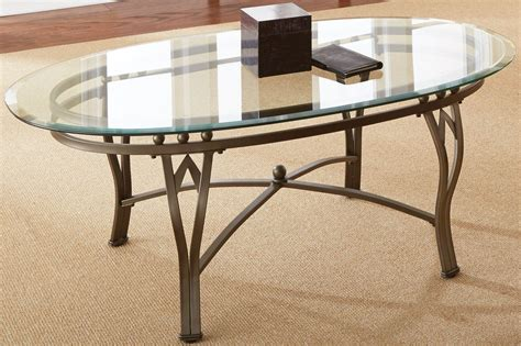 Oval Glass Coffee Table Top