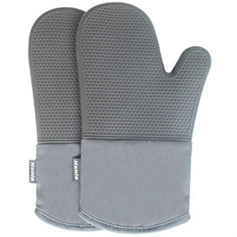 Oven Gloves Glamouric 1 Pair Silicone Heat Resistant Oven .