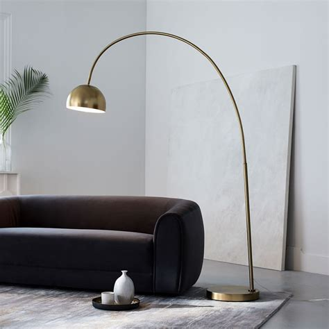 Overarching Metal Shade Floor Lamp  Lighting .