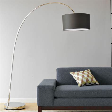 Overarching Metal Shade Floor Lamp Nickel - People Com.